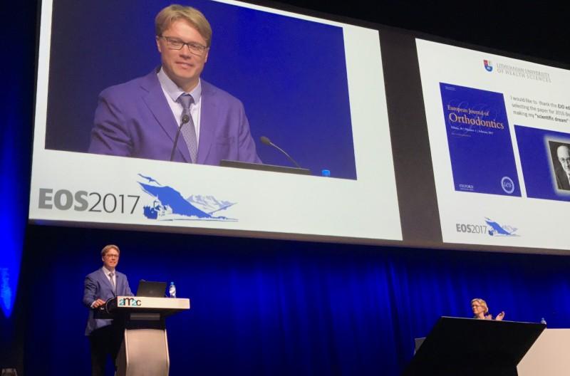 Europos ortodontų sąjungos kongrese - garbingas apdovanojimas